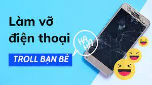 Ứng dụng giả làm vỡ màn hình điện thoại troll bạn bè ~ HAU - STUDY HARD -  PLAY HARD