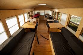 tiny house school bus. Student Thesis Project Turns Bus Into Tiny House, © Justin Evidon House School