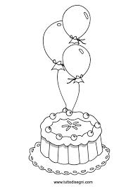 Disegno Di Torta Con Palloncini Per Bambini Tuttodisegnicom