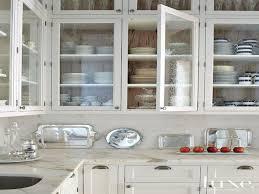 White Glass Kitchen Cabinets Kitchen White Cabinet Glass Doors Beautify The Kitchen By Using