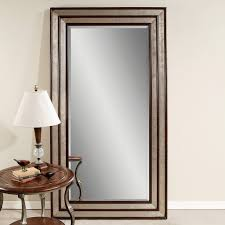 Silver Leaf Decoration Bedroom Silver Leaf And Black Accent Floor Leaner Mirror On Wheat