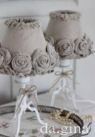 shabby chic lighting ideas. burlap roses lampshade good idea for shabby chic lighting ideas r