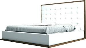 queen leather platform bed white leather platform bed modern bedroom zinus deluxe faux leather upholstered platform
