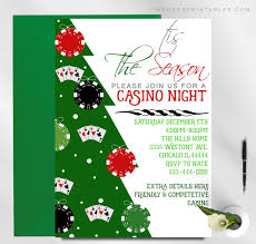 Christmas Holiday Invitations Casino Night Holiday Party Invitation
