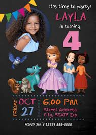 1st Birthday Party Invitation Template Sofia The First Birthday Invitation Template Postermywall