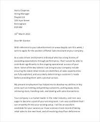 Cover Letter For Assistant Manager Position In Retail Sales Covering Letter Cover Examples Retail Sample Template For