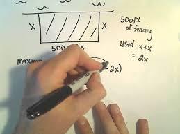 Optimization Problem #4 - Max Area <b>Enclosed</b> by Rectangular Fence