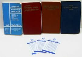 4 Books Financial Mortgage Handbook Payment Tables Constant Percent 1958 1967 Ebay