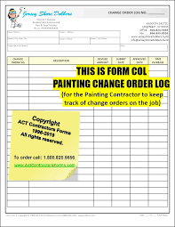 Download a free contractor invoice template. Painting Change Orders Extra Work Order Forms