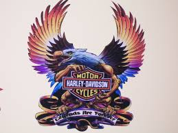 harley davidson eagle legends full color window 14 x 12 decal