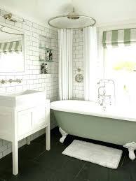 clawfoot tub curtain shower for tub curtain ideas bathroom transitional with vessel sink green striped roman clawfoot tub curtain free standing tub shower