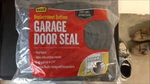 how to diy replace bottom door seal on garage door installs easy you