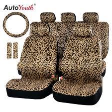 car seats leopard print car seats luxury seat cover universal fit belt covers