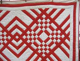 red and white quilts | Using two fabrics, a Turkey red print and a ... & red and white quilts | Using two fabrics, a Turkey red print and a white Adamdwight.com