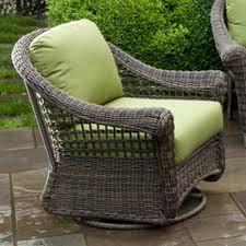 alfresco home bainbridge resin wicker deep seating patio swivel