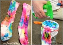 funky tie dye look at these fun and colorful socks the tutorial after the link is for a pair of kid socks you can however apply the process on a