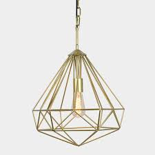 Gold Geometric Pendant In 2019 Lighting Cage Pendant Light