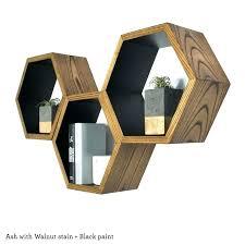 hexagonal wall shelf image 0 hexagon shelves nz kids room floating hexagon wall decor modern geometric shelves