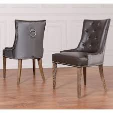 newport brown leather nailhead trim dining chair pertaining to al of leather dining chairs with nailheads ideas dining room