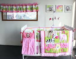 zebra giraffe monkey embroidery girl baby bedding sets 8 pieces quilt per fitted diaper bag crib embroidery baby bedding