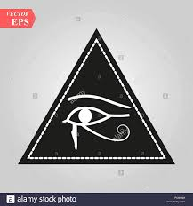 All Seeing Eye Magical Element Eye Triangle Tattoo Design Vector