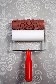 Pattern Paint Roller Cool Damask Patterned Paint Roller Sleeve Quaint