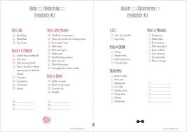 emergency kit list able by simplybridal makeup
