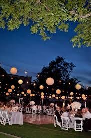 night garden wedding reception ideas
