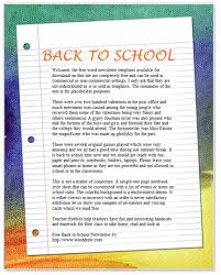 word document newsletter templates back to school newsletter template for microsoft word by worddraw com