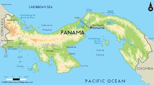 road map of panama and panama road maps