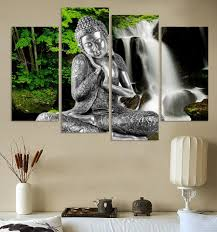 Painting Canvas For Living Room Online Get Cheap Buddha Painting Canvas Aliexpresscom Alibaba