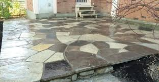 how to lay flagstone patio flagstone patio after wet laid installing flagstone patio over concrete