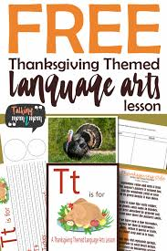 A Thanksgiving Themed Language Arts Activity Pack Freebie
