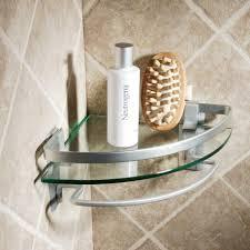 Bathroom Accessories Shelves Bathroom Cool Bathroom Accessories Design With Glass Corner Shelf