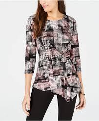 Alfani Thermal Pants Size Chart Alfani Printed Twist Top In 2019 Tops Dresses With