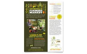 Advertising Poster Templates Simple Farmers Market Flyer Template Design