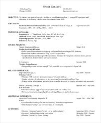 Basic Entry Level Resumes 9 Entry Level Resume Examples Pdf Doc Free Premium