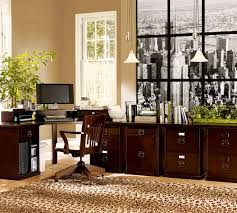 home office decorating ideas nyc. Natural Home Office Decorating With Good Arranged Traditional Wooden Furniture Around Window Black And White Nyc Photo Wallpaper Animal Skin Rug Ideas T