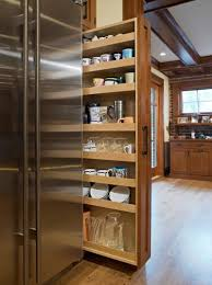 Roll Out Pantry Cabinet Kitchen Smokey Gray Glossy Metal Pull Out Storage Pantry Cabinet