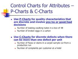 Difference Between C Chart And P Chart Ppt Statistical Quality Control Powerpoint Presentation