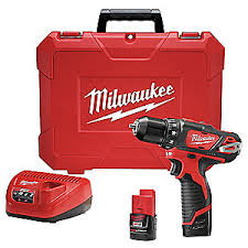 milwaukee power drill. cordless drill/driver kit,12.0v,3/8in. milwaukee power drill d