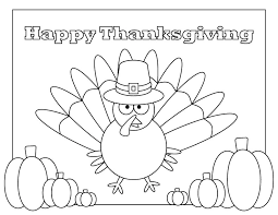 Happy Thanksgiving Turkey Coloring Page At Home With Sahm