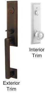 front door handlesetEmtek Wilshire Brass Entry Door Handle  Shop Entry Set Door Locks