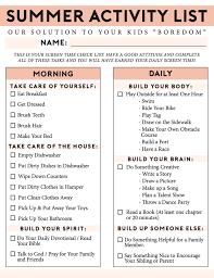 The Ultimate Summer Chores Checklist Kids Fresh Mommy Blog