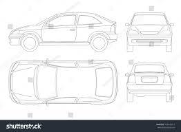 Car Template Sedan Car Lines Isolated Car Template Stock Vector Royalty Free
