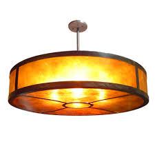 copper lighting fixture. large circular pendant lighting fixture made of assembled copper with amber mica diffuser