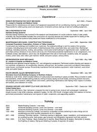 maintenance resume samples refrigeration maintenance resume example
