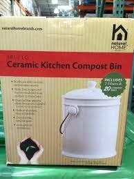 costco compost bin natural home ceramic kitchen compost bin box costcoca compost bin costco canada compost