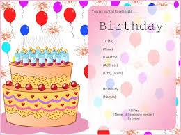 Blank Birthday Invitations Blank Birthday Invitations Astonishing