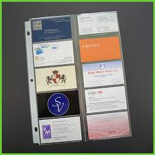 3 Ring Business Card Pages For Binder 85x11 Holder Sheet For 400 Card